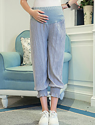Maternity Simple Loose Pants,Cotton Stretchy