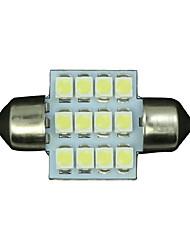 50X White 31mm 12-3528 SMD Festoon Dome Map Interior LED Light Lamp DE3175 3022