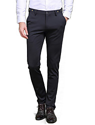 Men's Solid Casual / Work / Formal Suits,Cotton Black
