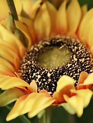 1 1 Ast Polyester Sonnenblumen Tisch-Blumen Künstliche Blumen 87CM