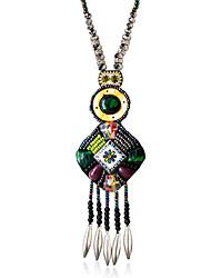 Femme Pendentif de collier Forme de Cercle Forme Géométrique Alliage Mode Arc-en-ciel Bijoux Pour Mariage 1pc