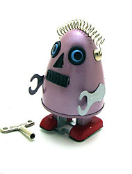 Novelty Toy  Puzzle Toy  Educational Toy  Wind-up Toy Puzzle Toy  Robot Metal Blue Pink For Kids