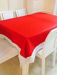 Rectangulaire Solide Nappes de table , Coton mélangé Matériel Décorations de Noël Tableau Dceoration Dîner Décor Favor