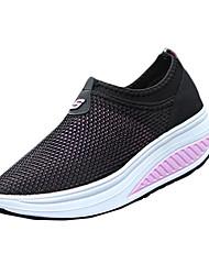 Damen-Sneaker-Sportlich Lässig-Tüll-Keilabsatz-Komfort