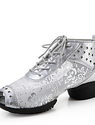 Non Customizable Women's Dance Shoes Leather /  Fabric Dance Sneakers / Sneakers Flat HeelPractice /