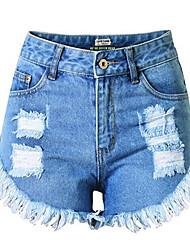 Pantalon Aux femmes Short Chic de Rue Coton / Polyester Micro-élastique