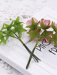 1 1 Ramo Poliéster / Toque real Rosas Flor de Mesa Flores artificiais 3.9inch/10cm