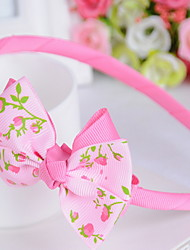 Korean Flower Girl's Fabric Bow Headbands