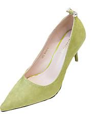 Women's Heels Summer Heels Fleece Casual Stiletto Heel Sparkling Glitter Black / Yellow / Green / Pink Others