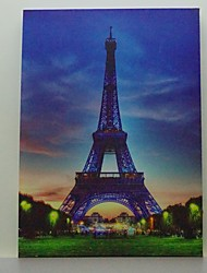 LED Canvas Print,The Eiffel Tower