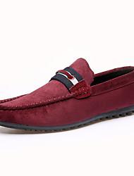 Herren-Flache Schuhe-Lässig-Stoff-Flacher Absatz-Flache Schuhe / Komfort-Schwarz / Blau / Rot