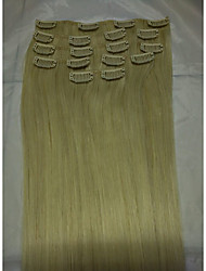 "15""#60 Human Hair Clip In Human Hair Extensions  8Pcs/70g"