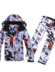 Ski Wear Pants/Trousers/Overtrousers / Ski/Snowboard Jackets / Clothing Sets/Suits Men's Winter Wear Cotton / Polyester Architecture