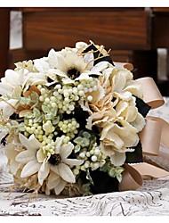 Wedding Flowers Round Peonies Bouquets Wedding Satin