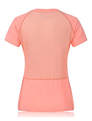 Course Shirt Femme Manches courtes Respirable / Séchage rapide / Compression / Anti-transpiration Fibre de bambou-carbonne Course Sportif