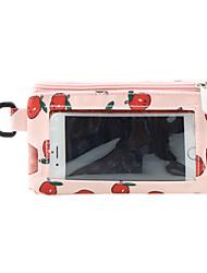 mignon avec une couche intermédiaire peut toucher l'écran sac de téléphone portable 4,7 pouces rouge à lèvres portefeuille zéro