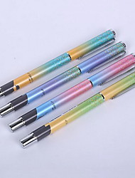 New Stationery Writing Tools Metal Pens Colorful Pen Students Calligraphy Pen (Random Color)