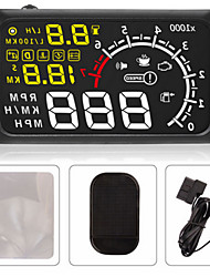 Universal Car HUD Head UP 5.5 LCD Display OBDII Car Styling Car Kit Fuel Overspeed KM/H Pro With Anti-slip Pad