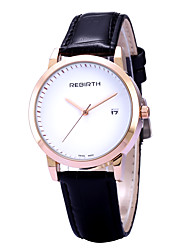 REBIRTH® Women's Simple Fashion Date Display PU Leather Strap Quartz Wrist Watch Casual Watch Dress Watch