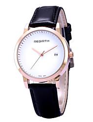 REBIRTH® Women's Simple Fashion Date Display PU Leather Strap Quartz Wrist Watch Casual Watch Dress Watch