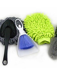 Fiber Coral Worm Double-Sided Gloves, Car Wash Small Wax Drag, Tire Hub Brush, Cleaning Brush, Four Sets