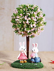 Cartoon Rabbit Resin Ornaments Creative Birthday Gifts for Children(Random Style)