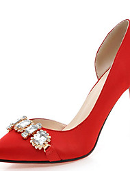 Women's Shoes Stiletto Heel Pointed Toe Rhinestones Pump More Color Available