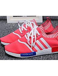 Da donna-Sneakers-CasualPiatto-Tulle-Nero Blu Rosso
