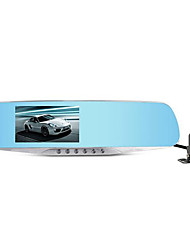 ling hs650b versão atualizada do gravador de visão hd lente espelho retrovisor com visão traseira dupla
