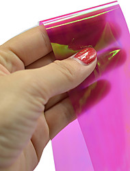 1pcs 100*4cm Nail Art DIY Glitter Shinning Rose Red Beautiful Color Transfer Foil Stickers BL12