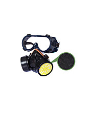 Double Tank Gas Mask Two-piece (with Goggles)