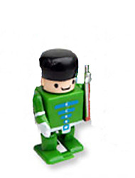 Green/Blue Plastic Clockwork Clockwork Toys New Police