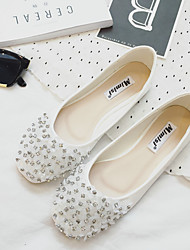 Women's Flats Spring / Summer / Fall Flats PU Casual Flat Heel Crystal Black / White Others