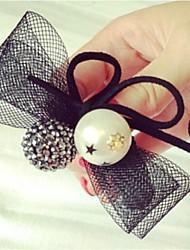 Women's Pearl Headpiece-Wedding Flowers 1 Piece Silver Square Cut