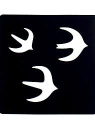6pcs Women Makeup Body Henna Tattoo Stencil Art Painting Swallow Birds Design Henna Tattoo Stencil