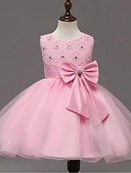 Vestido Chica de-Noche-Estampado-Algodón / Poliéster-Todas las Temporadas-Rosa