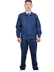 Long Sleeved Cotton Denim Anti-static Protective Clothing  Size 180/80/XXL