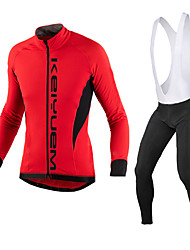 KEIYUEM®Spring/Summer/Autumn Long Sleeve Cycling Jersey+Long Bib Tights Ropa Ciclismo Cycling Clothing Suits #L97