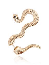 Alloy Statement Jewelry Fashion Animal Shape Snake Gold Bronze Jewelry Daily Casual 1pc