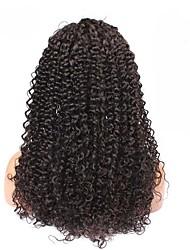 """cheia do laço perucas brasileira carapinha 6a encaracolados 14 """"-18"""" cor natural para a mulher preta"""