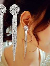 Drop Earrings Copper Simulated Diamond Fashion Statement Jewelry Silver Jewelry Daily Casual 2pcs