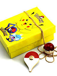 Jewelry Inspired by Pocket Monster PIKA PIKA Anime Cosplay Accessories Necklace / Brooch Red / Yellow / Blue Alloy Male / Female