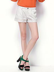 NAKED ZEBRA Women's Mid Rise Shorts Black / Khaki / Dark Blue Casual Pants-QP7267
