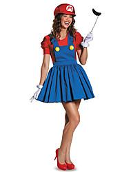 Costumes Plus de costumes Halloween Rouge / Vert Mosaïque Térylène Robe / Plus d'accessoires