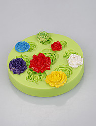 Food grade flower rose shaped silicone mini cupcakes cake muffin cookie pudding jelly baking cup