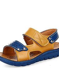 Girl's Sandals Spring / Summer / Fall Sandals PU Outdoor / Casual Flat Heel Bowknot Blue / Brown Walking