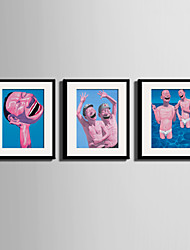 Люди Холст в раме / Набор в раме Wall Art,ПВХ Черный Коврик входит в комплект с рамкой Wall Art