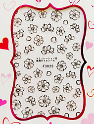 1 Nail Sticker Art Autocollants 3D pour ongles Fleur / Abstrait Maquillage cosmétique Nail Art Design