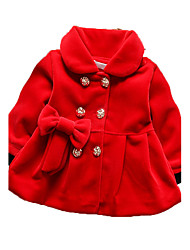 Girl's Casual/Daily Print Down & Cotton Padded Winter Brown / Pink / Red / Gray