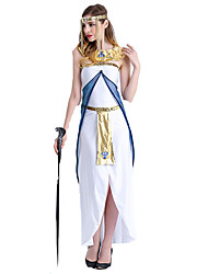Cosplay Costumes Party Costume Fairytale Goddess Festival/Holiday Halloween Costumes White Patchwork Dress Halloween Carnival Female